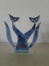 Kattepar i glas