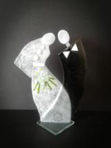 Brudepar i glas.