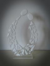 Kærester - eller brudepar i bullseye glas. 400 Kr.