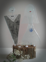 Brudepar i glas