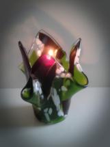 Lysestage i glas